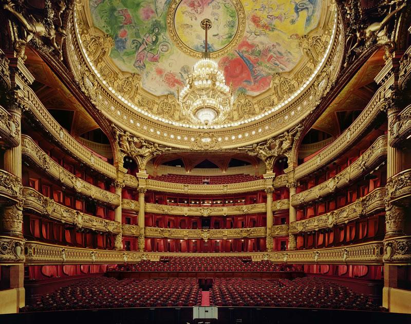 Imponente la sala de la Ópera de París