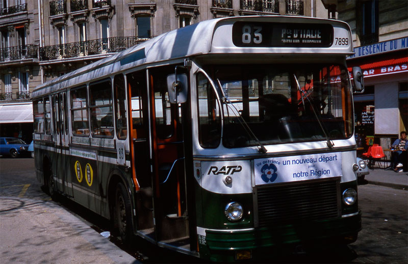 Transporte autobus en paris