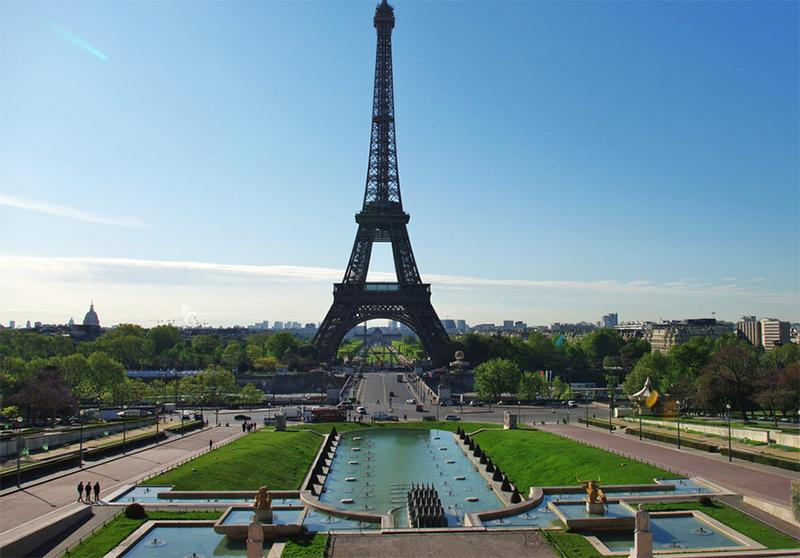 Vista de la Torre Eiffel desde el Trocadero