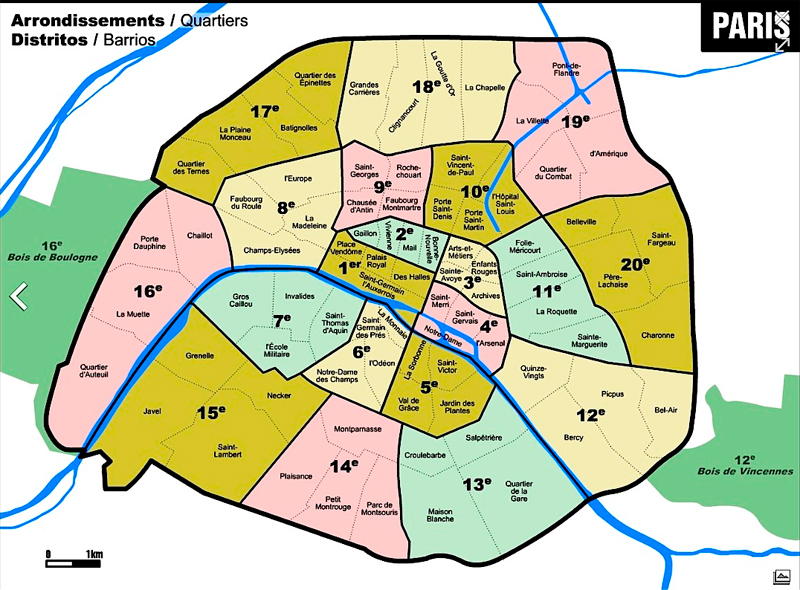 Mejores zonas para alojarse en París