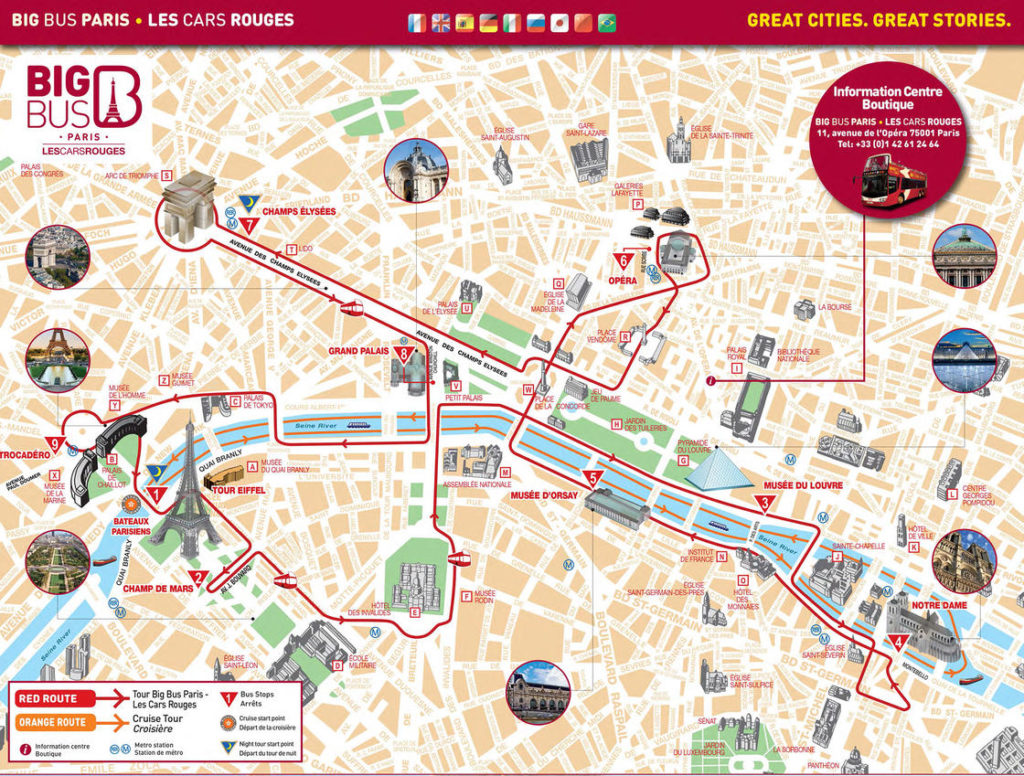 Mapa autobus turistico bigbus